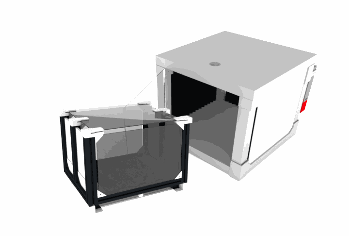 Combination modular behavior box and sound attenuation enclosure with lighting